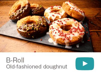 映像作品:B-Roll Old-fashioned doughnut